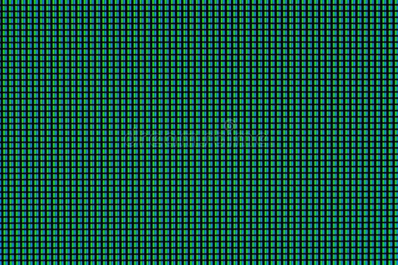 Piksle zaświecają z różnymi położeniami i składają turkusu światło na komputerowym monitorze ilustracja wektor