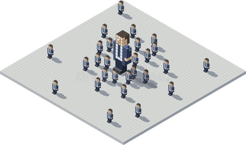 Piksli klony i szef royalty ilustracja