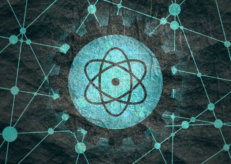 Piktograf atom obrazy royalty free