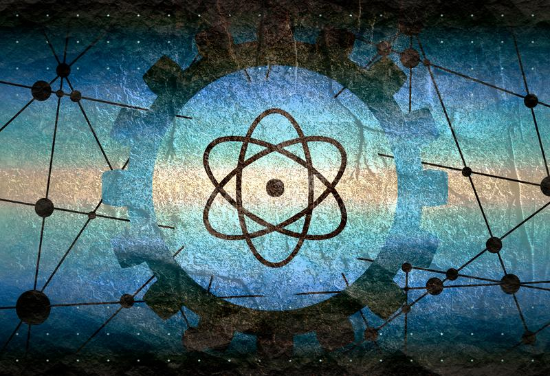Piktograf atom royalty ilustracja