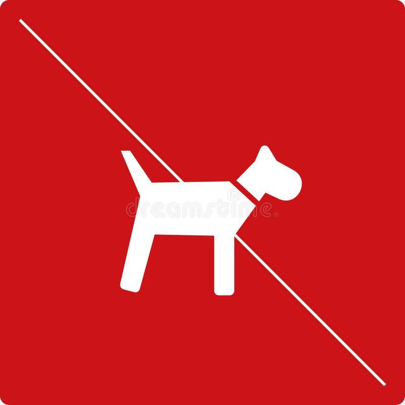 Piktogram żadny psy ilustracji
