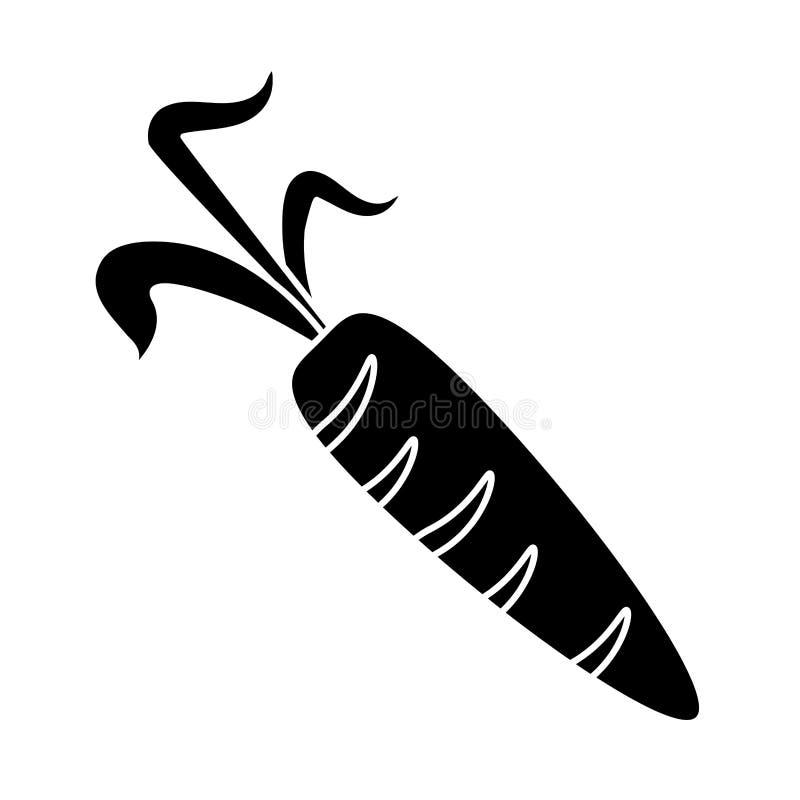 Piktogram świeża marchwiana jarzynowa zdrowa ikona ilustracja wektor