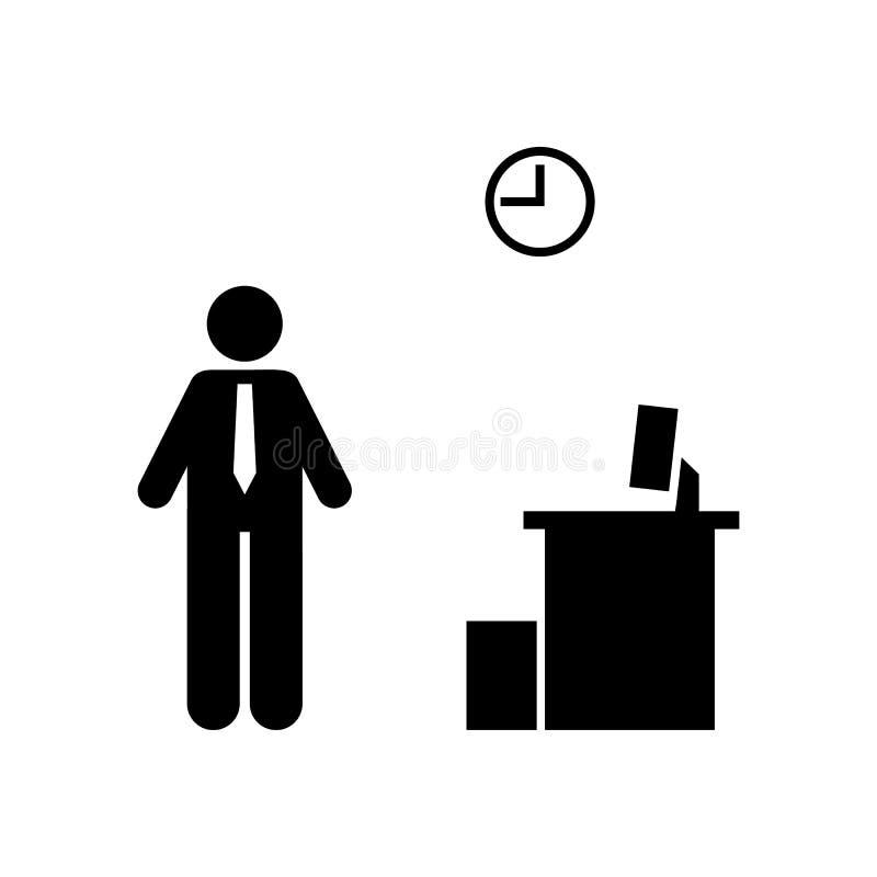 Piktogram biuro, bezrobotna, akcydensowa ikona, royalty ilustracja