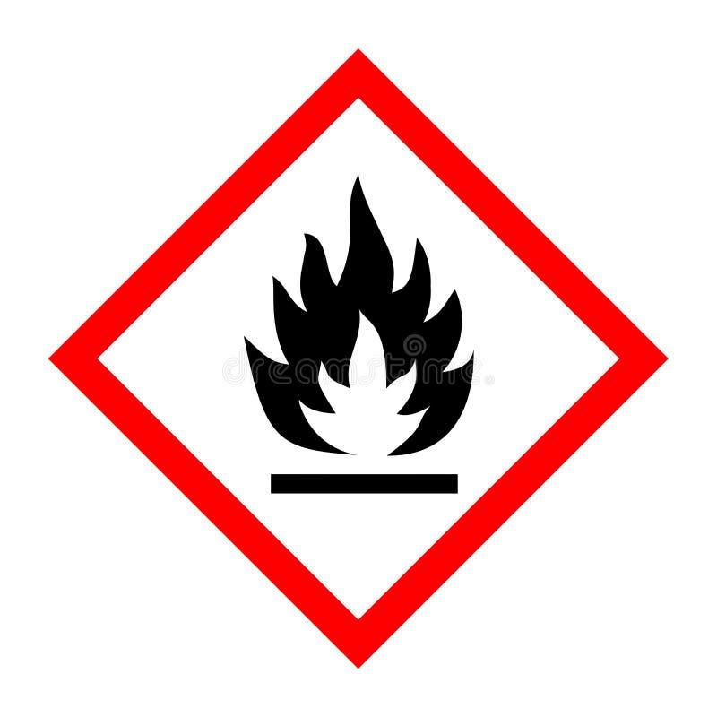 Piktogram dla flammable substancji ilustracja wektor