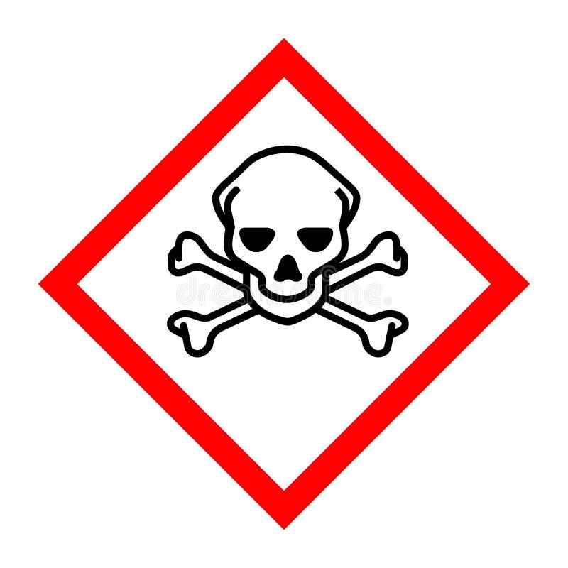Piktogram dla toksycznych substancji royalty ilustracja