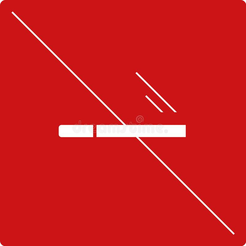 Piktogram palenie zabronione royalty ilustracja
