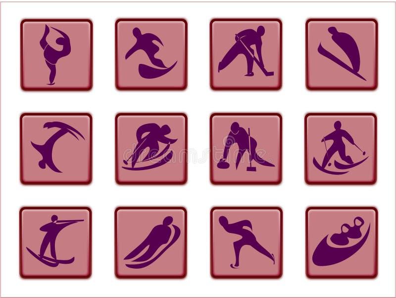 piktogramy olimpijskich royalty ilustracja