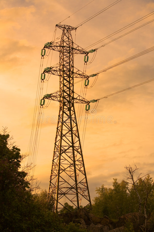 Pilão da eletricidade imagem de stock