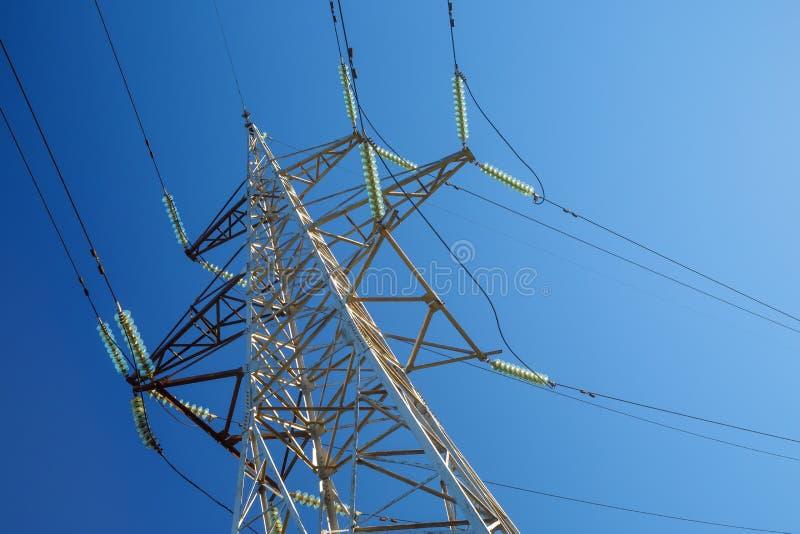Pilão de alta tensão da eletricidade imagens de stock
