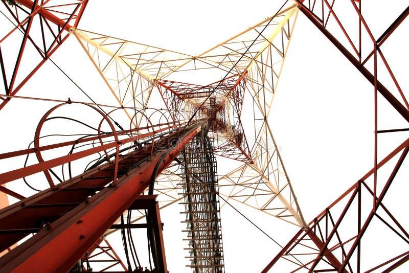 Pilão de alta tensão da potência da eletricidade fotografia de stock royalty free