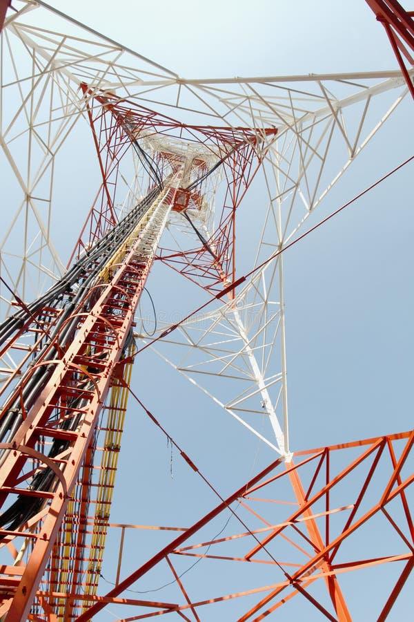 Pilão de alta tensão da potência da eletricidade imagens de stock royalty free