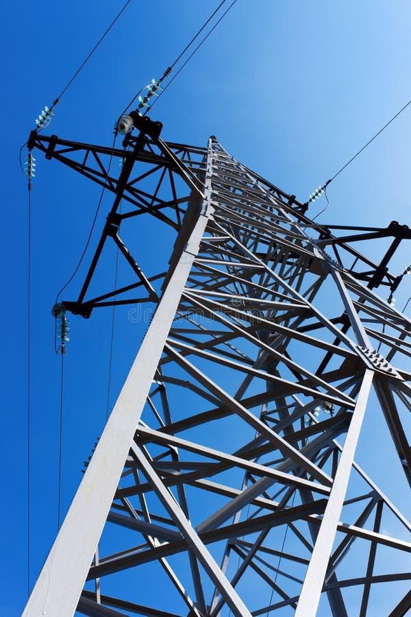 Pilón de la electricidad imagenes de archivo