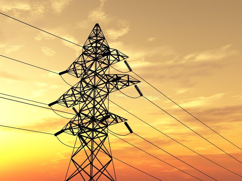 Pilón de la electricidad ilustración del vector