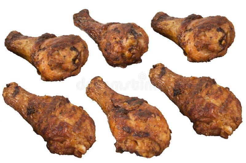 Pilões de galinha isolados foto de stock