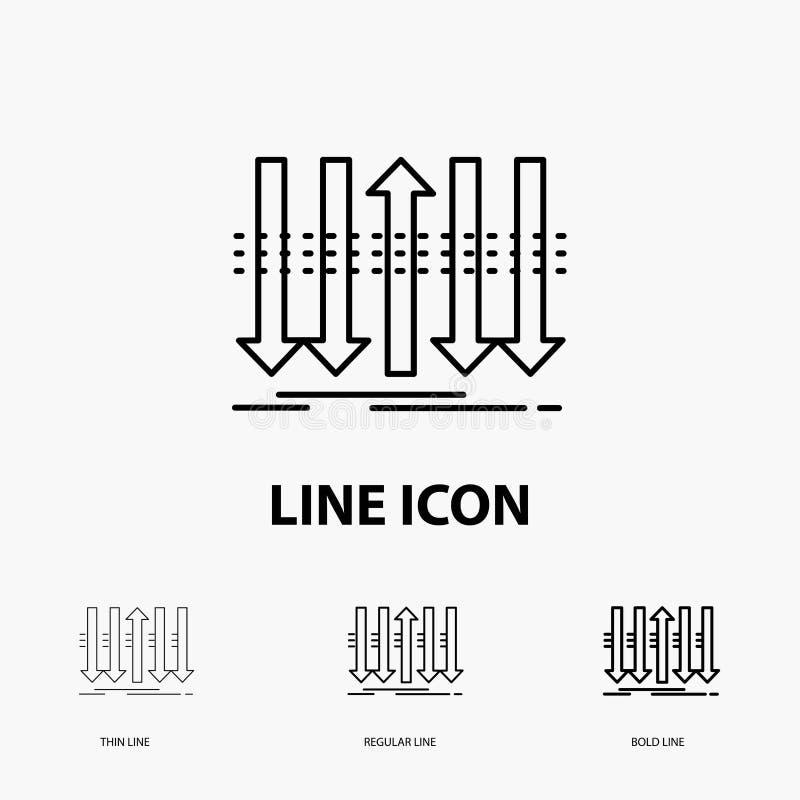 Pil, affär, skillnad, framåt, egenartsymbol i tunt, stamgäst och djärv linje stil ocks? vektor f?r coreldrawillustration vektor illustrationer
