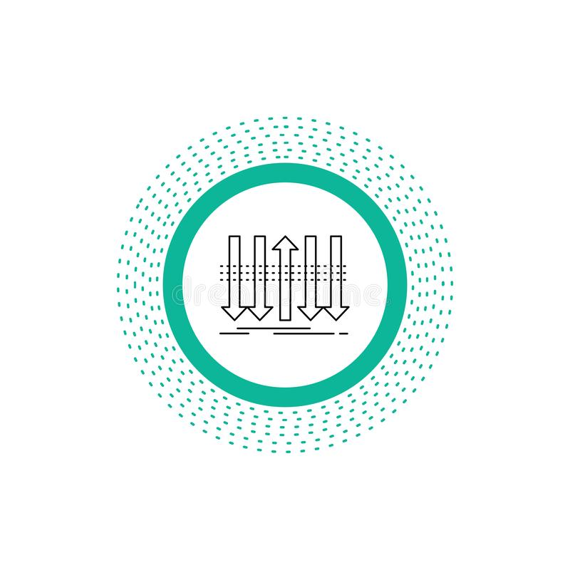 Pil aff?r, skillnad som ?r fram?t, egenartlinje symbol Vektor isolerad illustration vektor illustrationer