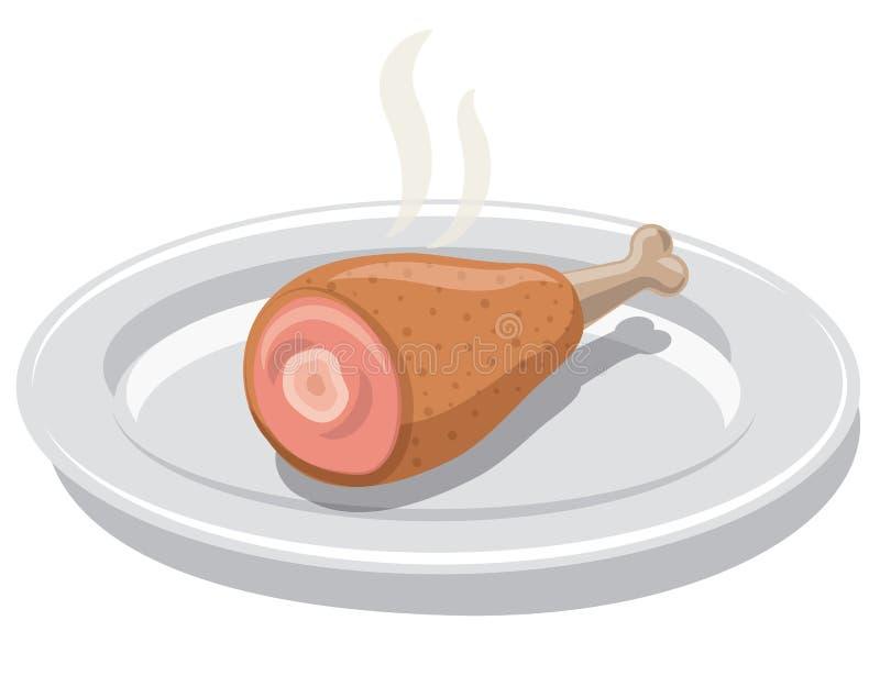 Pil?o de galinha quente ilustração stock
