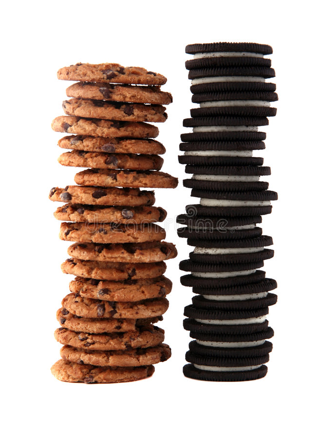 Pila 1 del biscotto fotografie stock
