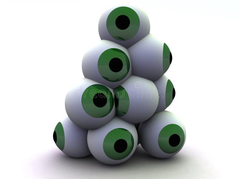 Pila 5 del ojo ilustración del vector
