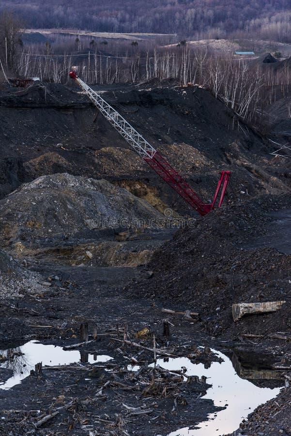 Pila abandonada de la basura del carbón de antracita - Pennsylvania fotografía de archivo libre de regalías