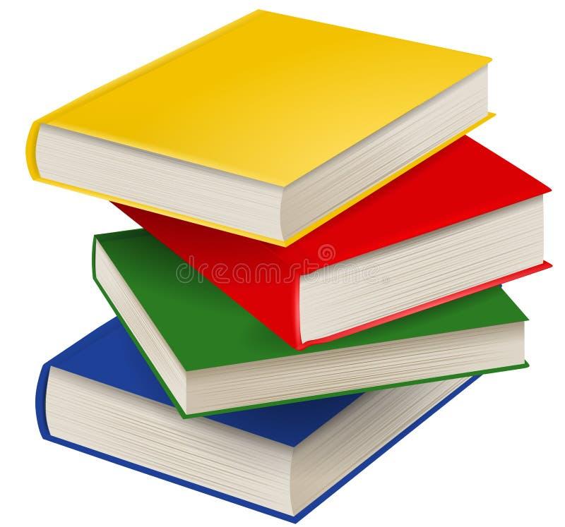 Pila aislada de ejemplo de libros stock de ilustración