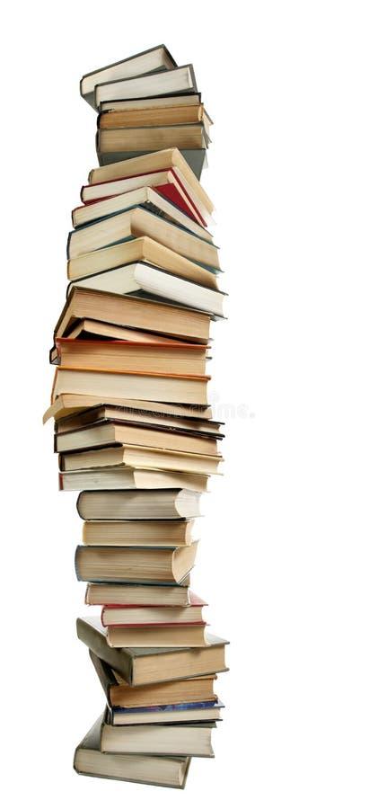 Pila alta de libros fotografía de archivo