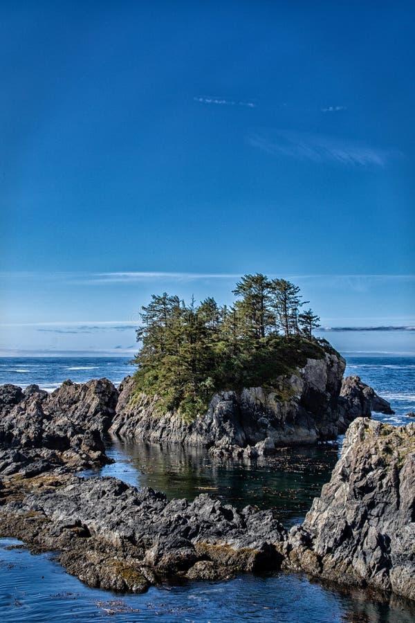 Pila canadiense del mar el día soleado fotografía de archivo