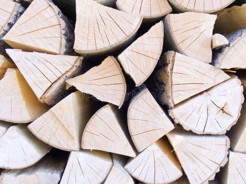 Pila con madera del fuego fotos de archivo libres de regalías