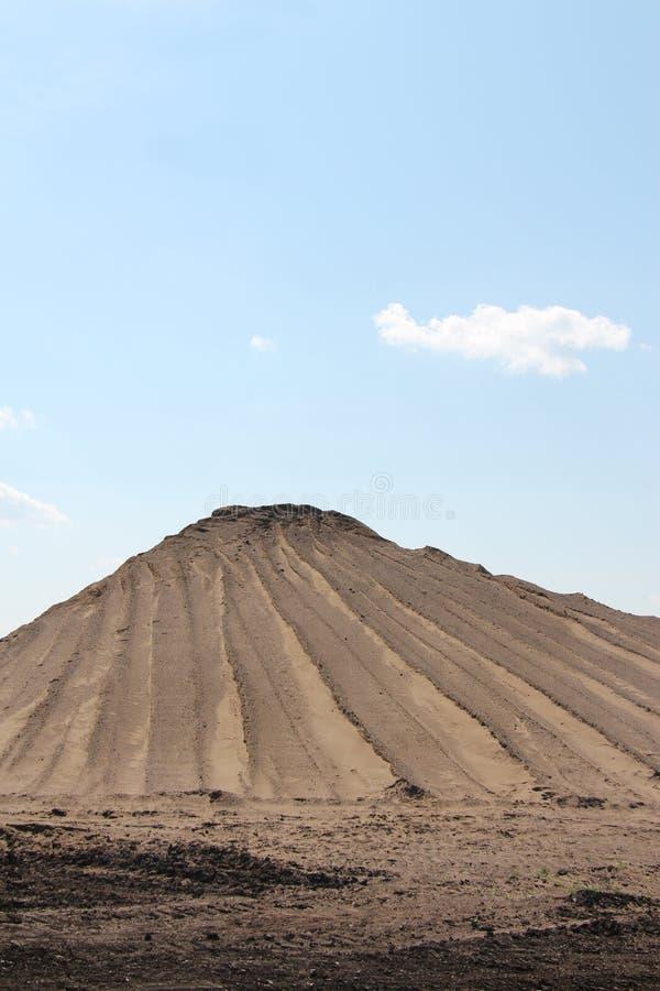 Pila de arena, textura arenosa imagen de archivo