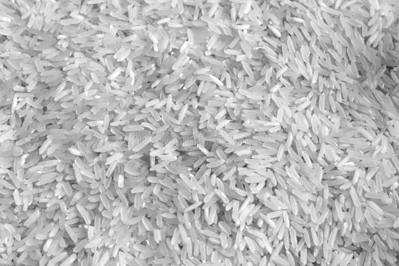 Pila de arroz blanco en blanco y negro foto de archivo libre de regalías