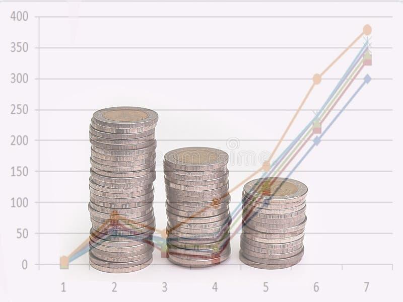 Pila de aumento de las monedas foto de archivo libre de regalías