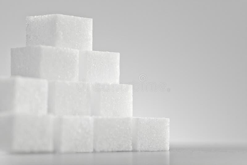 Pila de azúcar de terrón fotografía de archivo libre de regalías
