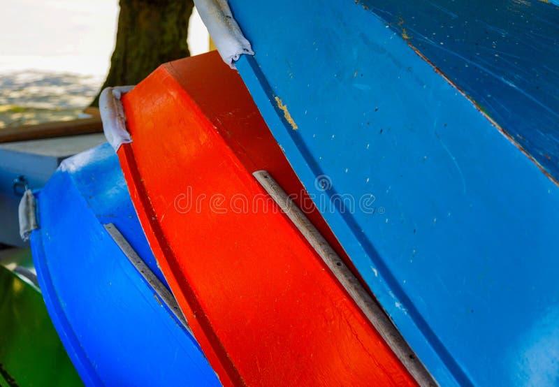 Pila de barcos de madera imágenes de archivo libres de regalías