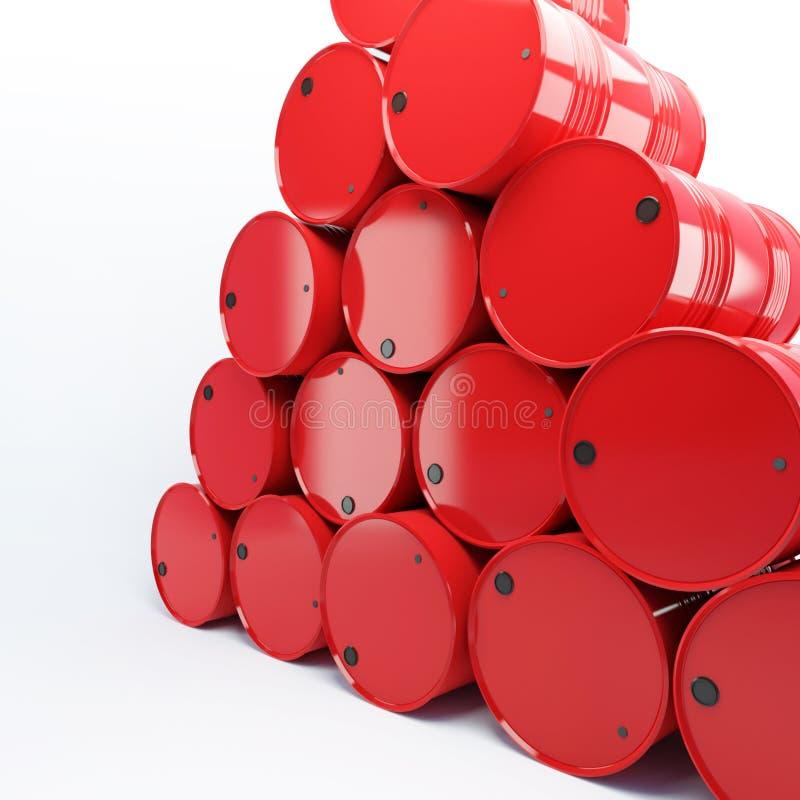 Pila de barriles con petróleo stock de ilustración