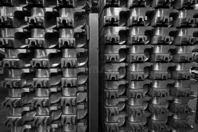 Pila de bastidor de aluminio fotografía de archivo