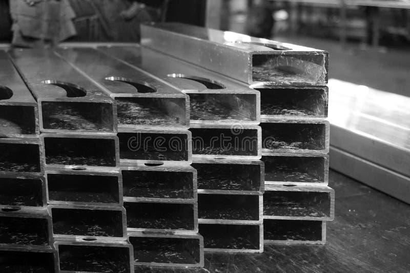 Pila de bastidor de aluminio foto de archivo libre de regalías