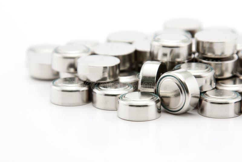 Pila de baterías del botón de la pila fotos de archivo libres de regalías