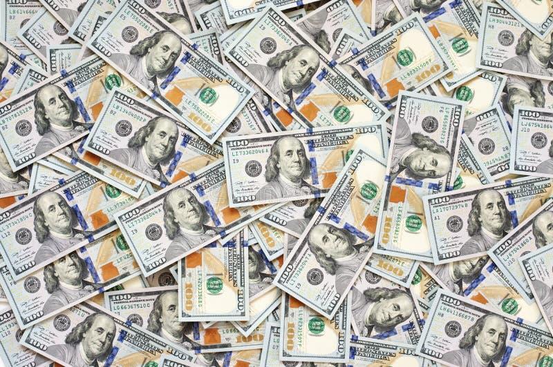 Pila de billetes de dólar imagenes de archivo