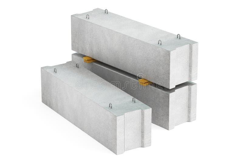Pila de bloques de cemento del  de las fundaciones Ñ, representación 3D ilustración del vector