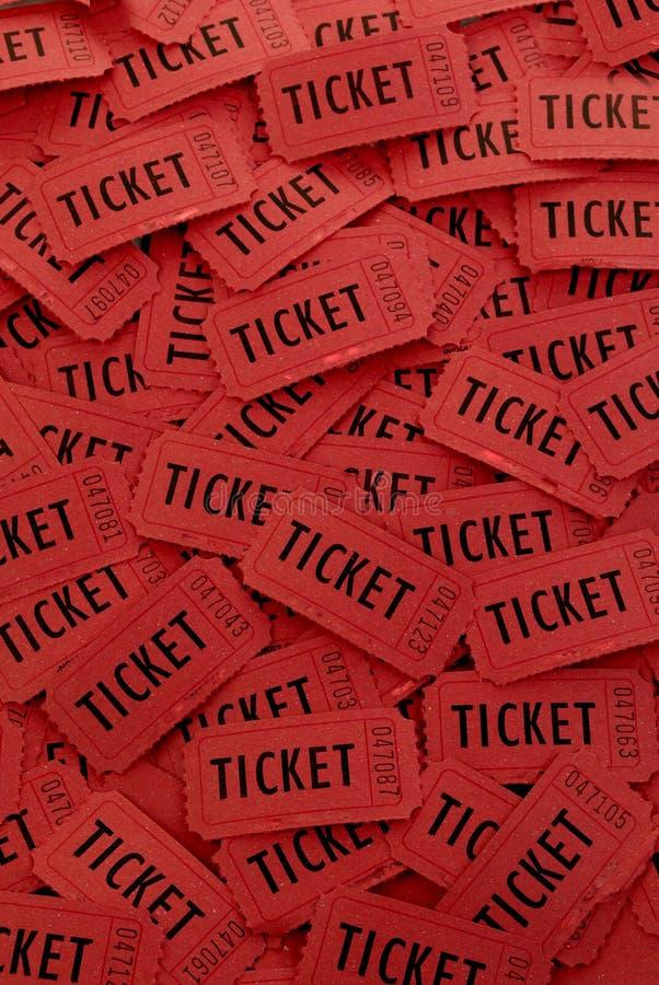 Pila de boletos rojos foto de archivo libre de regalías