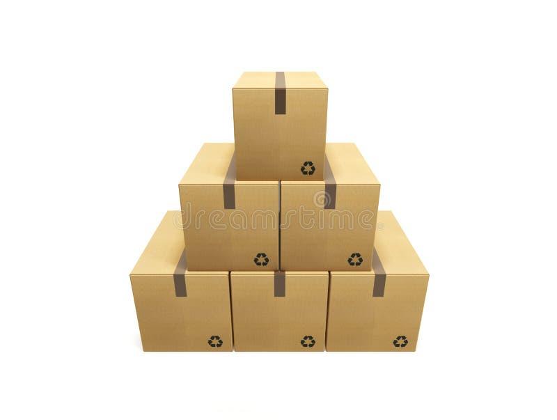 Pila de caja de cartón libre illustration