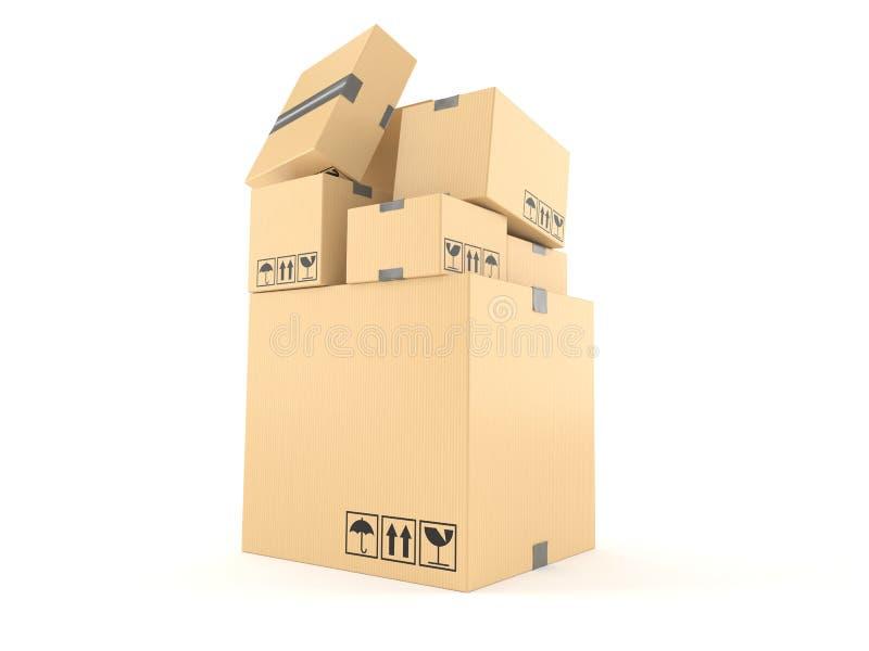 Pila de cajas libre illustration
