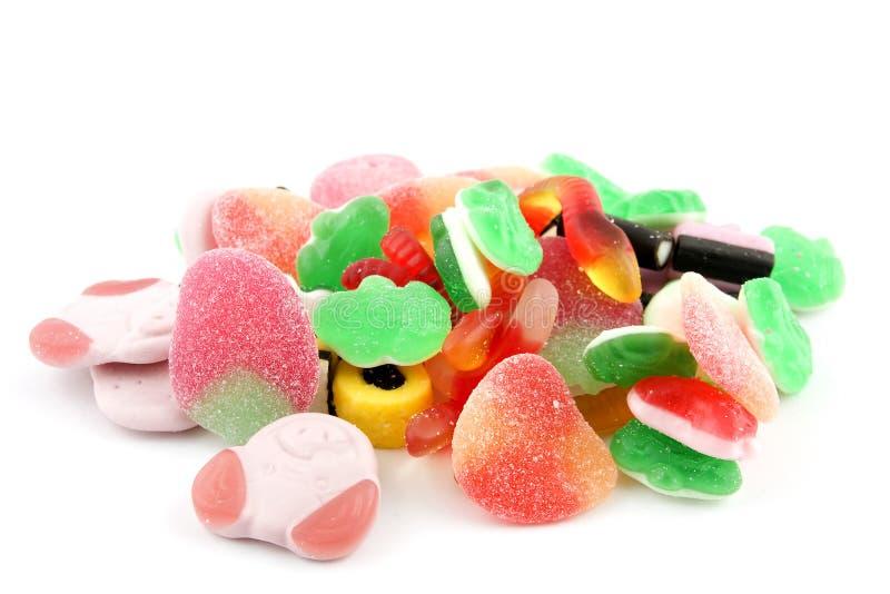 Pila de caramelo colorido fotografía de archivo libre de regalías
