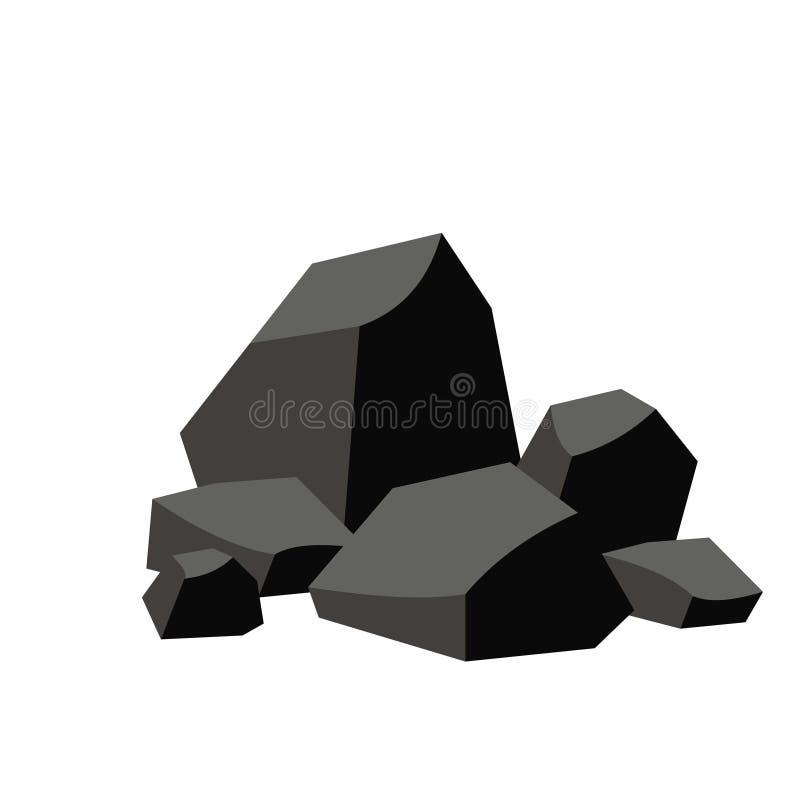 Pila de carbón ilustración del vector