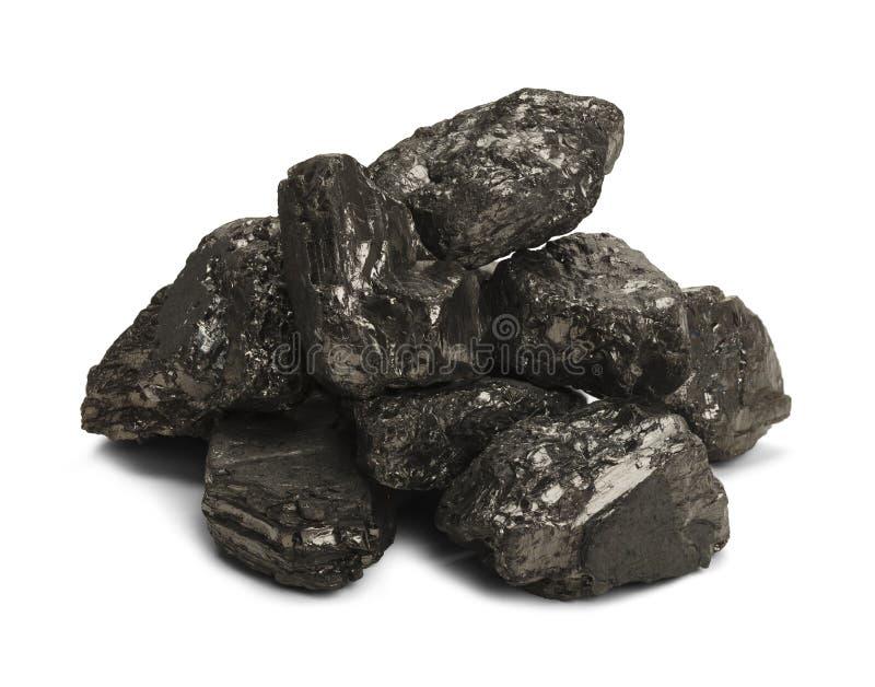 Pila de carbón fotos de archivo