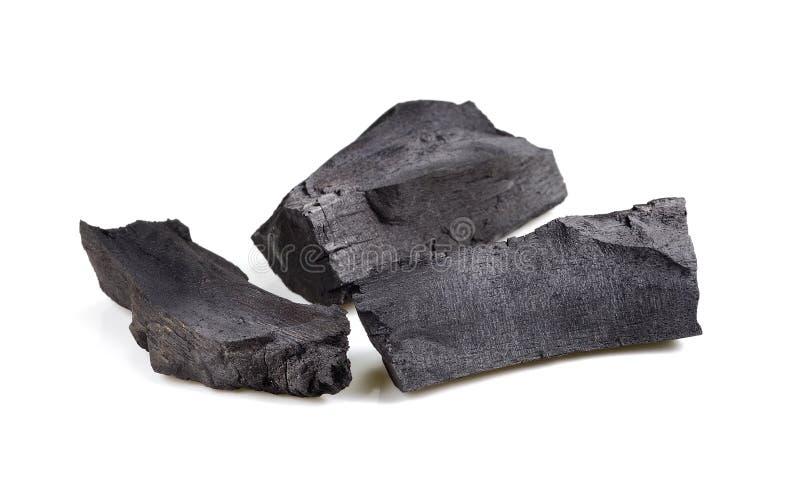 Pila de carbón en el fondo blanco imágenes de archivo libres de regalías