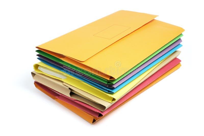 Pila de carpetas del documento imagen de archivo