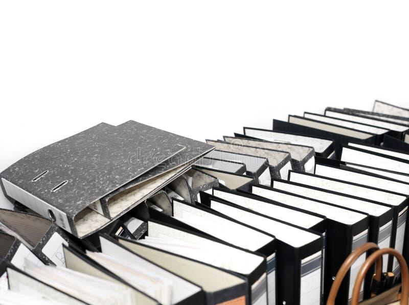 Pila de carpetas de fichero imagen de archivo libre de regalías