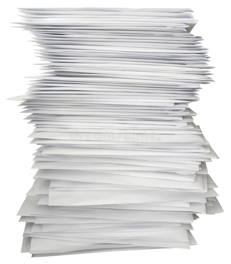 Pila de cartas imagen de archivo