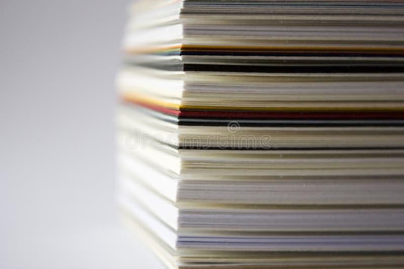 Pila de Cartboard fotografía de archivo